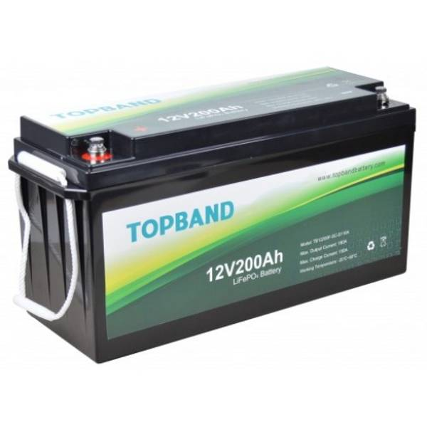 Bilde av TOPBAND Lithium HEAT PRO - 12V 200AH - 200A BMS - Bluetooth