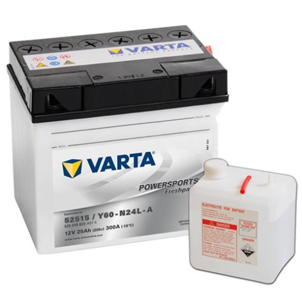Bilde av VARTA Y60-N24L-A MC Batteri 12V 25AH 300CCA (186x130x171mm) +høy