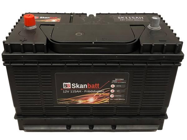Bilde av SKANBATT Fritidsbatteri 12V 115AH 800CCA (330x172x222/242mm) +mi
