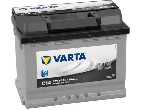 Bilde av VARTA C14 Black Dynamic Batteri 12V 56AH 480CCA (242x175x190)