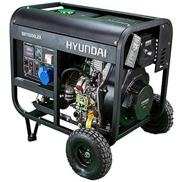 Bilde av HYUNDAI DHY6000LEK Aggregat 5300W - Elektrisk start - Diesel