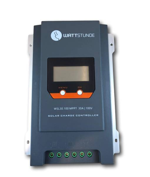 Bilde av WATTSTUNDE WSL30.100 MPPT 30A Solcelleregulator 12V/24V